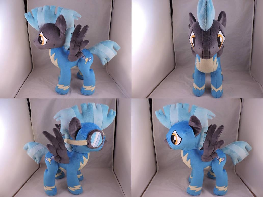 MLP Thunderlane Plush (commission) by Little-Broy-Peep