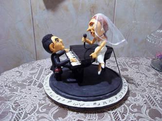 Caketop Bride And Broom by Erulindya