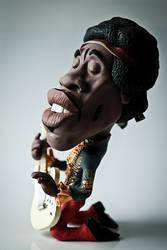 Jimi Hendrix in Clay by IgorGosling
