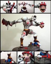 Kratos vs Mario Bros by IgorGosling