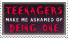 Teenagers Make Me Ashamed by AzysStamps