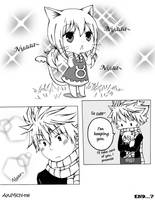 Neko-Lucy and Natsu by AyuMichi-me