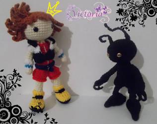 Sora e The Shadow Kingdom Hearts Amigurumi by izayoi0