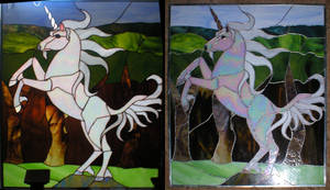 Stained Glass Unicorn by Ryaskgoldengryph