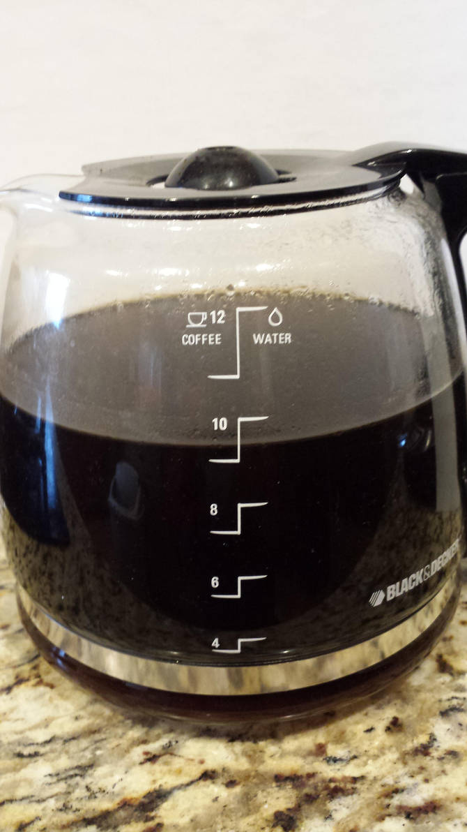 Gradiations on Coffee Carafe by squirrelismyfriend