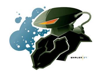 black manta minibust by strongstuff