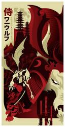 samurai werewolf poster by strongstuff
