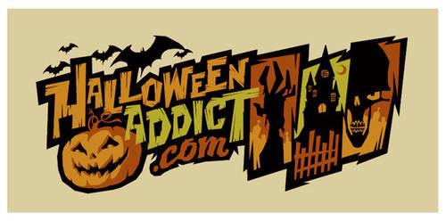 halloween addict logo by strongstuff