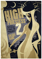 high priestess tarot card by strongstuff