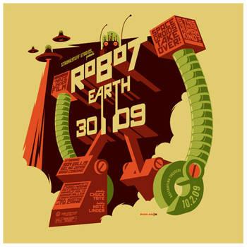 robot earth 3009 t-shirt by strongstuff
