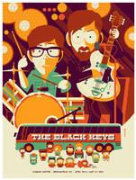 black keys: denver: gig poster by strongstuff