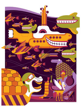 beatles: yellow submarine: undersea by strongstuff