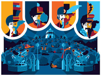 beatles: yellow submarine: pepperland by strongstuff