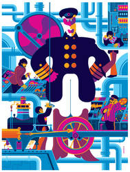 beatles: yellow submarine: sub interior variant by strongstuff