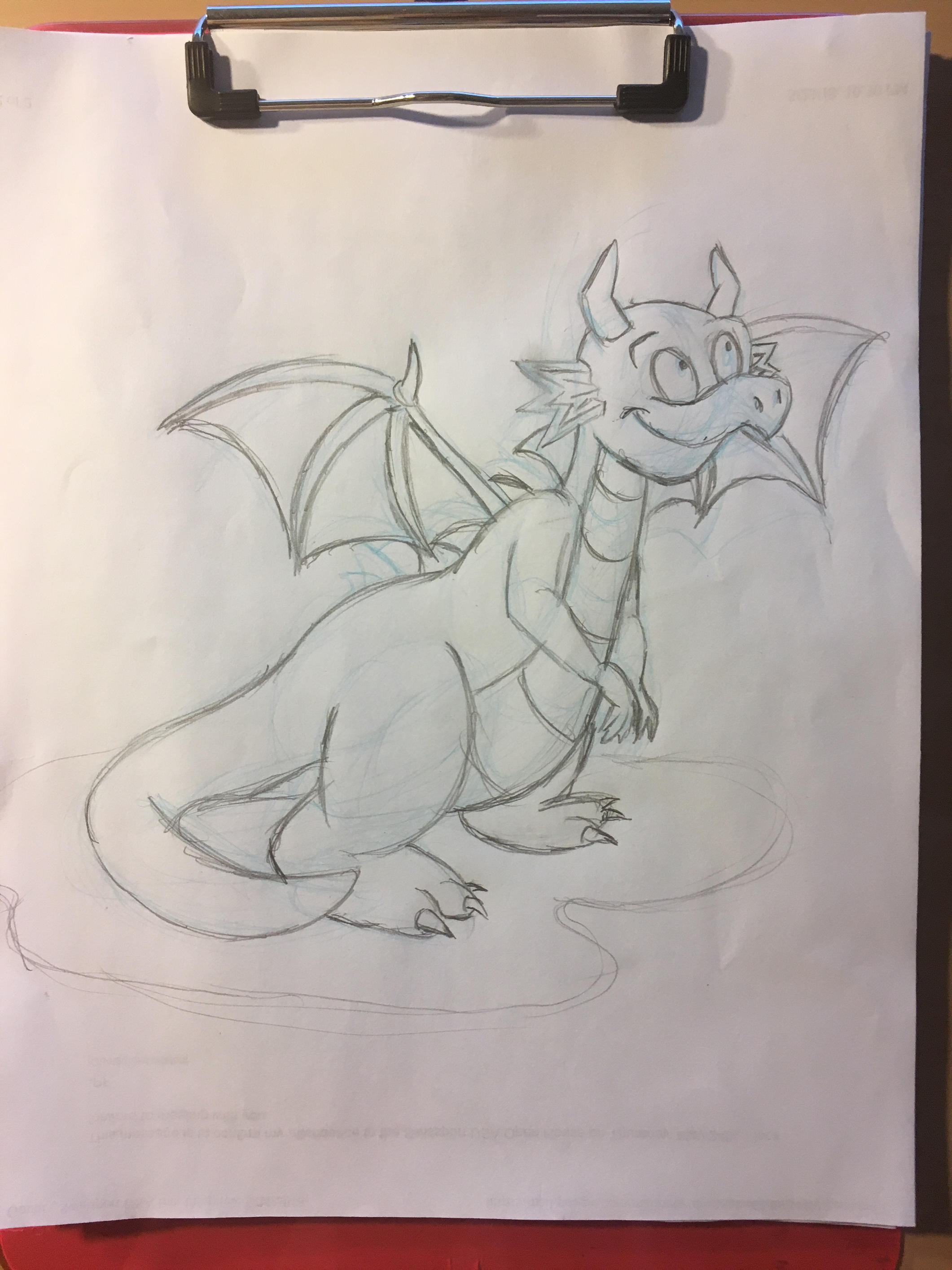 Baby Dragon (pencil) by PeterSFay