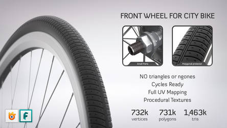 Front Wheel for City Bike by M-O-Z-G