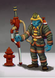 Firefighter Grohk by M-Katar