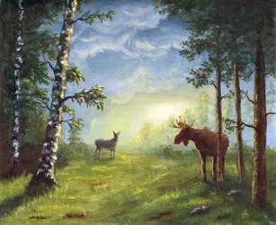 Morning Moose by arisuonpaa