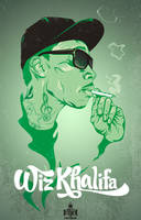 Wiz Khalifa up in smoke by Bokula