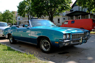 Buick Convertible In Blue by rimete