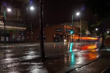 Car Light Trails Like Flames by rimete