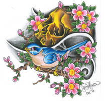 The Skull and Sparrow by ryanschipper89