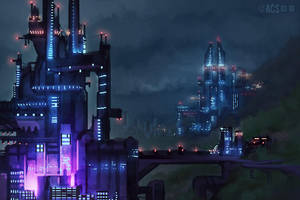 Megatower Factories by Shimmering-Sword