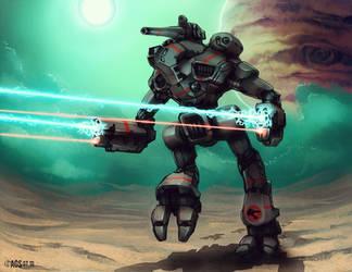 Mech Warrior - Marauder by Shimmering-Sword