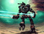 Mech Warrior - Marauder by Shimmering-Sword
