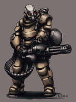 Contact - Power Armor Minigun by Shimmering-Sword