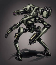 Contact - Infantry bot by Shimmering-Sword