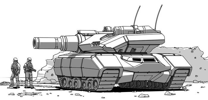 Mech Warrior - Churchill Tank by Shimmering-Sword
