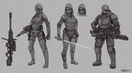 Commission - Soldier Classes by Shimmering-Sword
