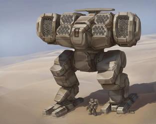 Battletech - Super Heavy Longbow by Shimmering-Sword