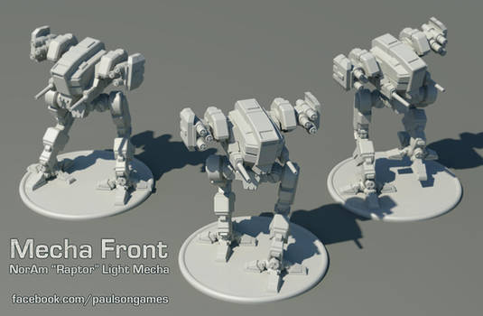 Mecha Front - Raptor Miniature by Shimmering-Sword