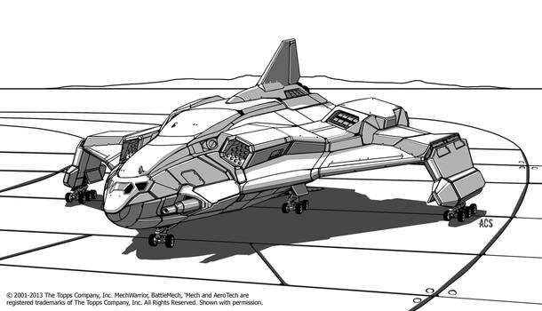 Battletech - Caerleon Transport by Shimmering-Sword