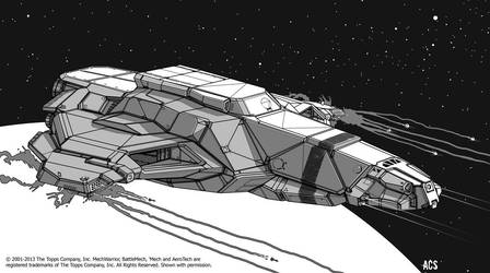 Battletech - Gorgon Carrier by Shimmering-Sword