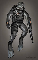 Contact - Triton Diver Suit by Shimmering-Sword