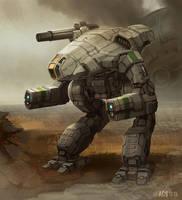 Battletech - MWO Marauder by Shimmering-Sword