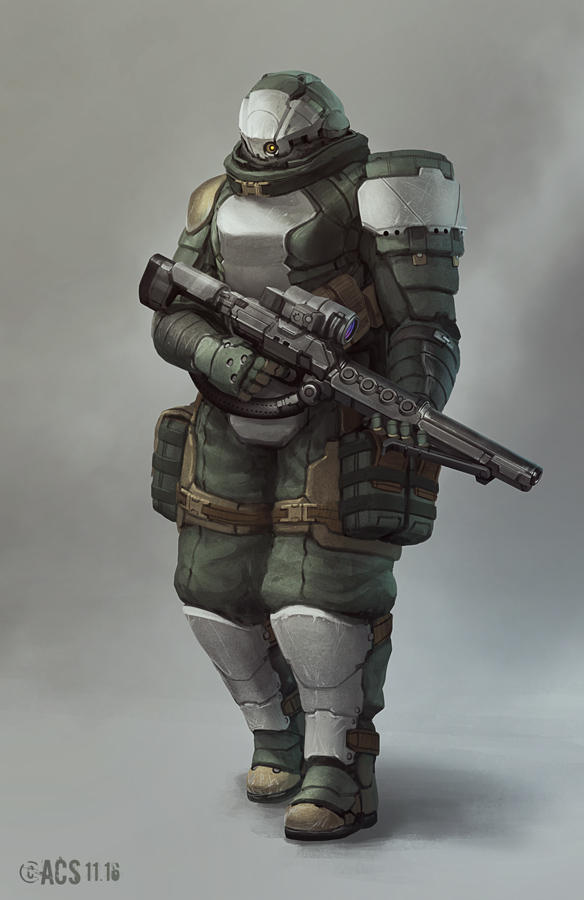 Commission - Support Trooper by Shimmering-Sword