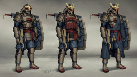 Commission - Samurai Armor by Shimmering-Sword