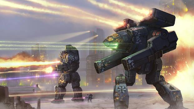Battletech - Ghost Bear Winter Defense by Shimmering-Sword