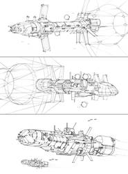 Battletech - Warship Sketches by Shimmering-Sword