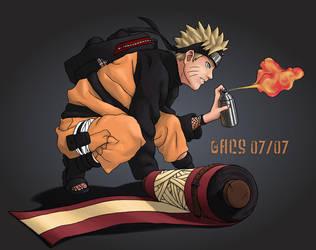 Naruto Colab Sprayin by Shimmering-Sword