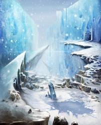 Snow/Ice Painting by adamrobertsdesigns