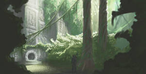 Jungle temple entrance by CucumberBoy