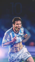 Messi MOBILE WALLPAPER COPA AMERICA 2016 by subhan22