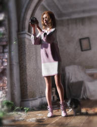 Promo Render - dForce Nunzia Dress for G8F by QuanticDementia