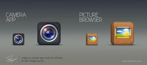 Index.hu iphone mobil app icons by floydworx