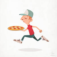 Pizza delivery guy by floydworx